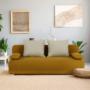 Kép 2/19 - ZACA Széthúzhatós kanapé,  mustár/bézs