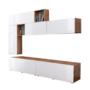 Kép 2/4 - MIRALDA Nappali fal,  fehér extra magasfényű/wotan tölgy