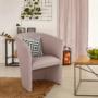 Kép 16/16 - CUBA Fotel,   pasztell rózsaszín anyag