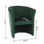 Kép 4/17 - CUBA Fotel,  smaragd anyag