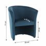 Kép 4/16 - CUBA Fotel,  kék anyag