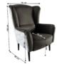 Kép 3/4 - BELEK Design fotel,  Velvet anyag barna/minta Terra