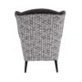 Kép 3/17 - BELEK design füles fotel,  Velvet anyag barna/minta Terra