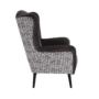 Kép 5/17 - BELEK design füles fotel,  Velvet anyag barna/minta Terra