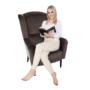 Kép 8/17 - BELEK design füles fotel,  Velvet anyag barna/minta Terra