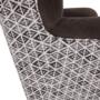 Kép 9/17 - BELEK design füles fotel,  Velvet anyag barna/minta Terra