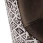 Kép 11/17 - BELEK design füles fotel,  Velvet anyag barna/minta Terra
