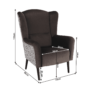 Kép 17/17 - BELEK design füles fotel,  Velvet anyag barna/minta Terra