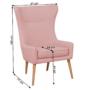 Kép 26/27 - FADOR Füles fotel,  rózsaszín/bükk
