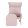 Kép 17/27 - FADOR Füles fotel,  rózsaszín/bükk