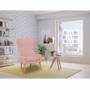 Kép 24/27 - FADOR Füles fotel,  rózsaszín/bükk