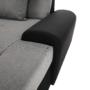 Kép 12/21 - LIBERTO Ülőgarnitúra - szürke/fekete,  balos kivitel [U]