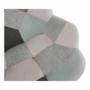 Kép 16/22 - GERON Hintaszék,  zöld-fehér patchwork/fehér/bükk