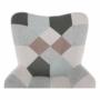 Kép 2/22 - GERON Hintaszék,  zöld-fehér patchwork/fehér/bükk