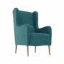 Kép 4/20 - BREDLY Kényelmes fotel,  türkíz/bükk