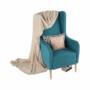 Kép 11/20 - BREDLY Kényelmes fotel,  türkíz/bükk
