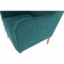 Kép 18/20 - BREDLY Kényelmes fotel,  türkíz/bükk