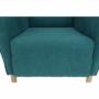 Kép 19/20 - BREDLY Kényelmes fotel,  türkíz/bükk