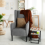 Kép 3/18 - BREDLY Kényelmes fotel,  szürke/fekete