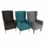 Kép 6/18 - BREDLY Kényelmes fotel,  szürke/fekete