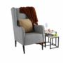 Kép 12/18 - BREDLY Kényelmes fotel,  szürke/fekete