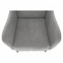 Kép 13/18 - BREDLY Kényelmes fotel,  szürke/fekete