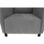 Kép 16/18 - BREDLY Kényelmes fotel,  szürke/fekete