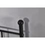 Kép 6/8 - ROZALI Fém kanapé -  fekete (90x200)