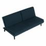 Kép 11/21 - BUFALA kanapé ágyfunkcióval,  kék Velvet anyag