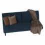 Kép 12/21 - BUFALA kanapé ágyfunkcióval,  kék Velvet anyag