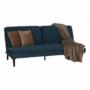 Kép 21/21 - BUFALA kanapé ágyfunkcióval,  kék Velvet anyag