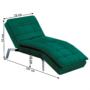 Kép 20/21 - REMAN Fotel ágyfunkcióval,  smaragd/króm