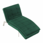 Kép 5/21 - REMAN Fotel ágyfunkcióval,  smaragd/króm