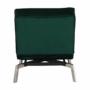 Kép 6/21 - REMAN Fotel ágyfunkcióval,  smaragd/króm