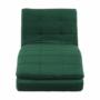Kép 7/21 - REMAN Fotel ágyfunkcióval,  smaragd/króm