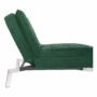 Kép 9/21 - REMAN Fotel ágyfunkcióval,  smaragd/króm