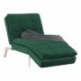 Kép 15/21 - REMAN Fotel ágyfunkcióval,  smaragd/króm