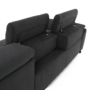 Kép 14/29 - COPER Ülőgarnitúra ülés mélység beálítással - szürke,  jobbos kivitel