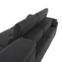 Kép 15/29 - COPER Ülőgarnitúra ülés mélység beálítással - szürke,  jobbos kivitel