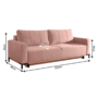 Kép 5/5 - RAMOS kanapé,  rózsaszín