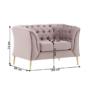 Kép 6/6 - NIKOL Luxus fotel,  rózsaszín [1 ML]
