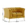 Kép 5/5 - NIKOL Luxus fotel,  arany [1 ML]
