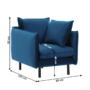 Kép 3/3 - VINSON Luxus fotel,  párizsi kék [1]
