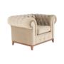 Kép 17/24 - TIFANY Luxus fotel,  világosbarna [1]