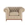 Kép 18/24 - TIFANY Luxus fotel,  világosbarna [1]