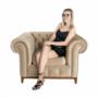 Kép 20/24 - TIFANY Luxus fotel,  világosbarna [1]
