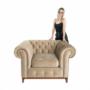 Kép 21/24 - TIFANY Luxus fotel,  világosbarna [1]