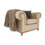 Kép 23/24 - TIFANY Luxus fotel,  világosbarna [1]