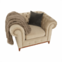 Kép 24/24 - TIFANY Luxus fotel,  világosbarna [1]