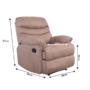Kép 25/27 - LAMBERT Állítható masszázs  fotel,  fekete bársony anyag